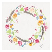 Wildflower Wreath 2 Framed Print