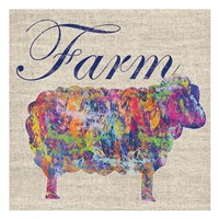 Sheep Farm Framed Print