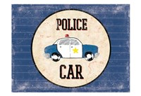 Police Car Blues Fine Art Print
