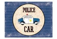 Police Car Blues Framed Print