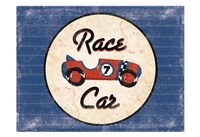 Race Car Blues Framed Print