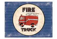 Fire Truck Blues Framed Print