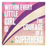 Superhero Girl Mate Framed Print