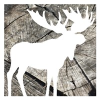 Wood Moose Reverse Framed Print