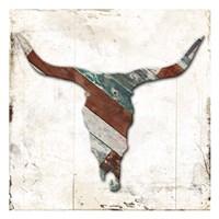 Wooden Bull Head Mate Framed Print