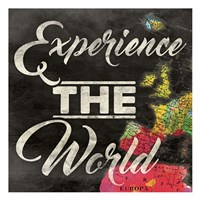 Experience The World Framed Print
