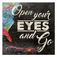 Open Your Eyes Framed Print