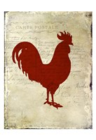 Rooster Silhouette 1 Framed Print