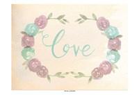 Flowered Love Framed Print