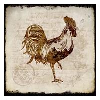 Vintage Rooster Square 1 Framed Print