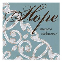 Crackle Filigree Hope Framed Print