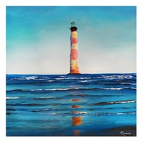 Red Stripe Light House Fine Art Print