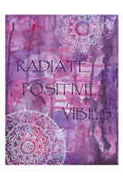 Purple Radiate Positive Vibes Framed Print