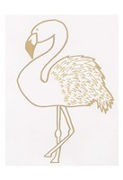 Golden Flamingo Framed Print