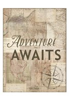 Adventure Awaits Recolor Fine Art Print