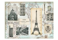 Paris Collage Global Fine Art Print