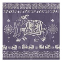 Boho Elephant Purple Fine Art Print