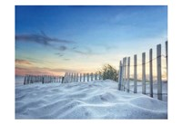 Fenced Sunset Fine Art Print
