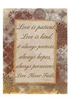 Loving Corinthians Framed Print