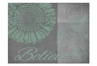 Floral Believe 6 Framed Print