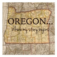 Story Oregon Framed Print