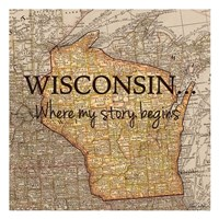 Story Wisconsin Framed Print