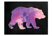 The Purple Bear Framed Print