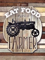 Thank A Farmer Framed Print