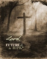 Jeremiah 29:11 For I know the Plans I have for You (Sepia Cross) Fine Art Print