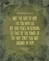 Romans 15:13 Abound in Hope (Green) Fine Art Print
