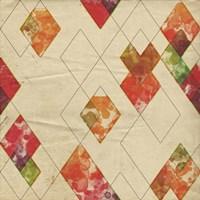 Geometric Color Shape II Framed Print