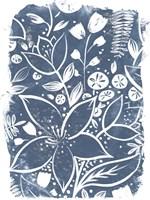 Garden Batik II Framed Print