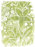 Garden Batik III Framed Print