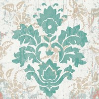 Damask Stamp VI Fine Art Print