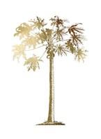 Gold Foil Tropical Palm I- Metallic Foil Framed Print