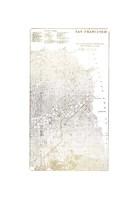 Gold Foil City Map San Francisco- Metallic Foil Fine Art Print