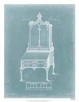 Chippendale Desk & Bookcase II Framed Print