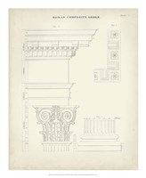 Greek & Roman Architecture IV Framed Print