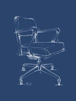 Office Chair Blueprint I Framed Print