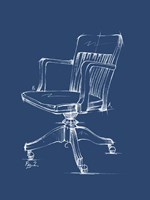 Office Chair Blueprint II Framed Print