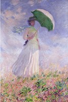 Woman with a Parasol turned to the Right, 1886 Fine Art Print