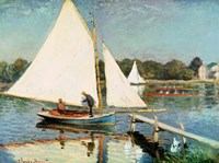 Sailing at Argenteuil, c.1874 Fine Art Print
