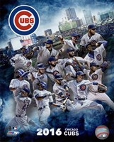 Chicago Cubs 2016 Team Composite Framed Print