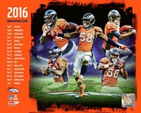 Denver Broncos 2016 Team Composite Fine Art Print
