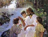 Christ And The Children Fine Art Print