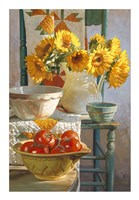 Sunflowers & Tomatoes Fine Art Print