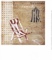Cabana Beach Collage I Framed Print