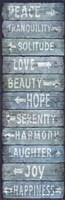 Vintage Signs - Directions Blu Fine Art Print