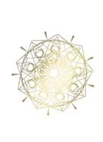 Gold Foil Mandala II - Metallic Foil Framed Print