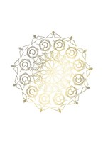 Gold Foil Mandala III - Metallic Foil Framed Print